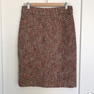 Gorgeous J Crew Woven Wool Pencil Skirt